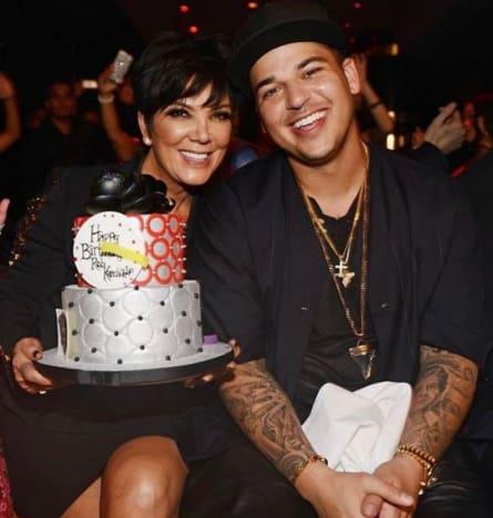Rob Kardashian and His Mother
