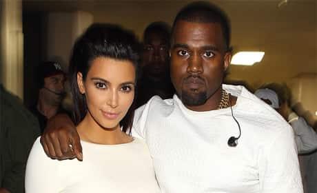 Kim Kardashian and Kanye West Keeping Up With the Kardashians Photo