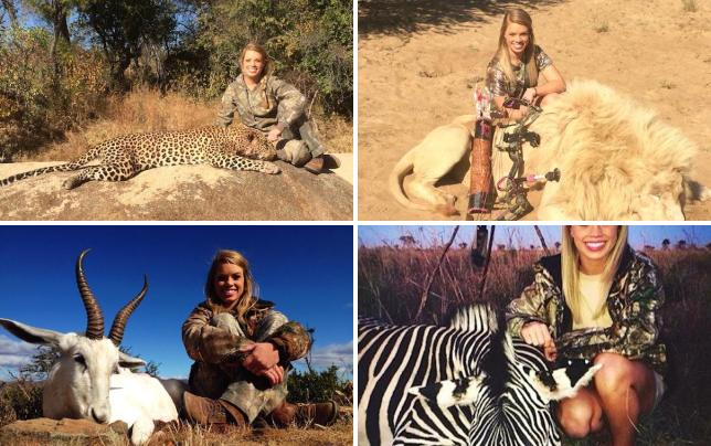Kendall jones with dead tiger