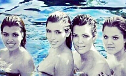 Kris Jenner Poses Topless with Daughters, Misses Them So Much