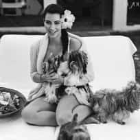 Kim Kardashian and Dogs