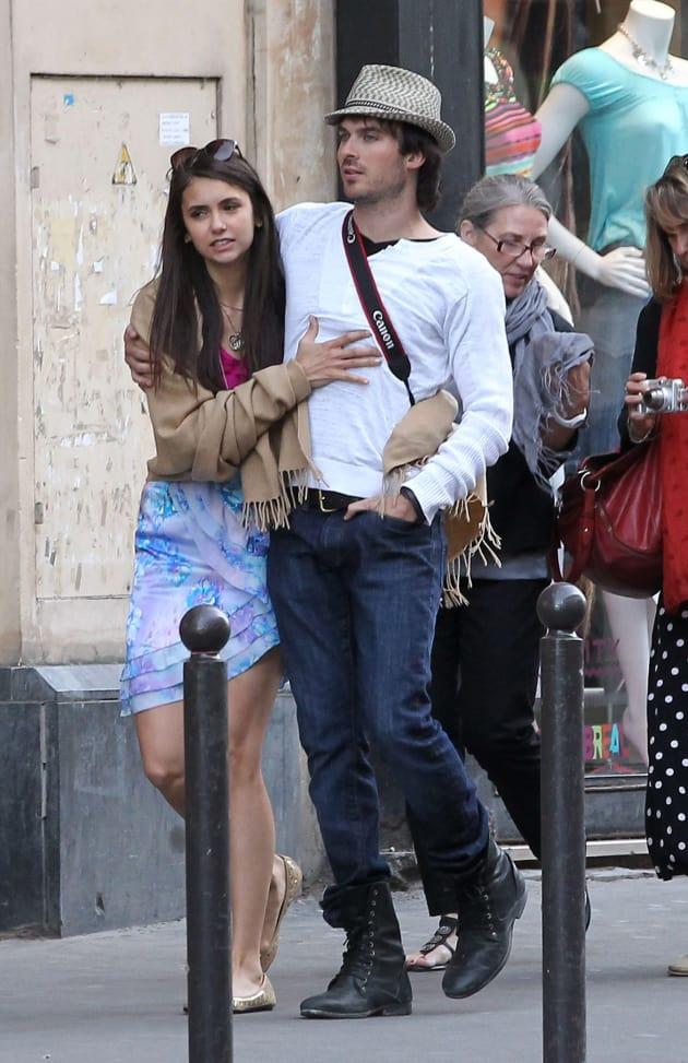 Ian Somerhalder and Nina Dobrev Photo