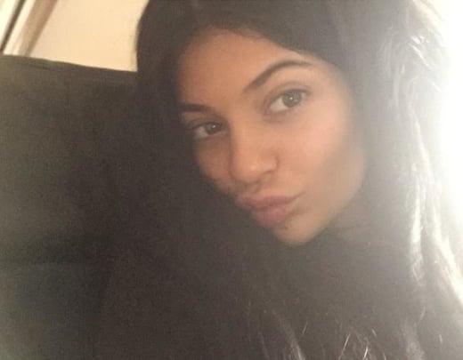 Kylie Jenner Makeup-Free Selfie