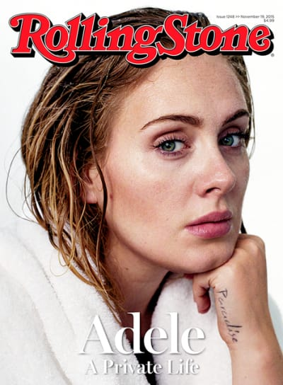 Adele Makeup Free For Rolling Stone The Hollywood Gossip
