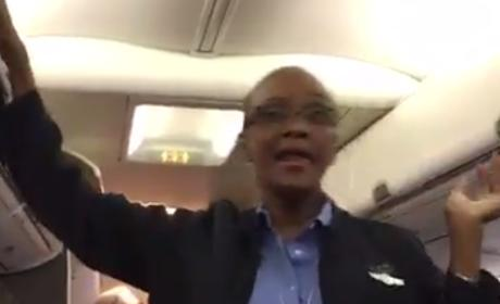 """Flight Attendant is """"Happy"""" to Leave D.C. Before Winter Storm"""