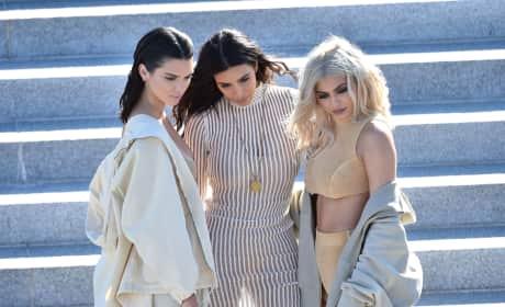 Kim Kardashian Kendall Jenner Kylie Jenner Yeezy Season Four Fashion Show