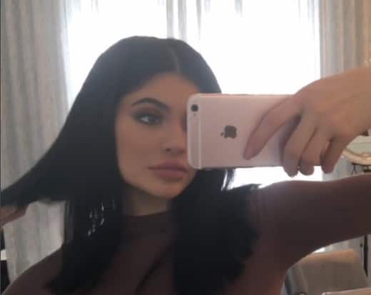 Kylie Jenner Selfie for Lip Kit