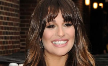 Lea Michele, Cleavage Visit David Letterman
