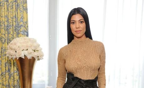 Kourtney Kardashian in Leather Pants Photo