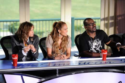 Steven Tyler, Jennifer Lopez and Randy Jackson