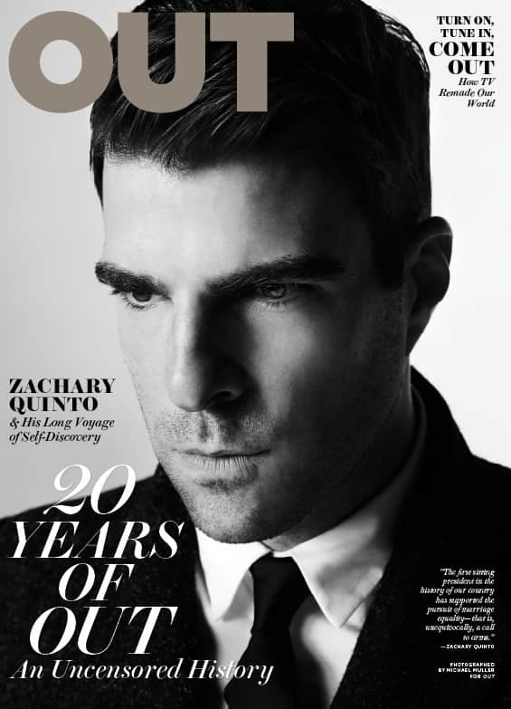 Zachary Quinto Out Cover