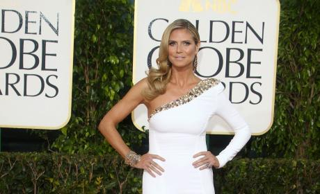 Heidi Klum at the Golden Globes