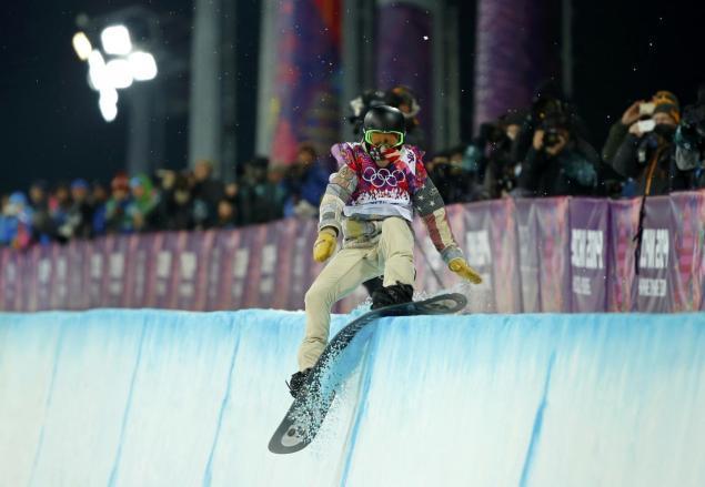 Shaun White Halfpipe Attempt at Olympics