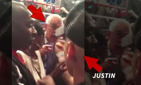 Justin Bieber Squares Off Against Security Guard