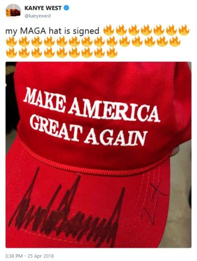 Kanye Maga Hat Signed Yikes