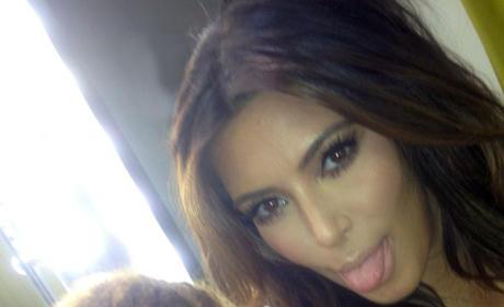 Kim Kardashian Tongue