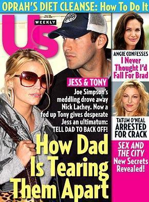 Jessica Simpson and Tony Romo Cover