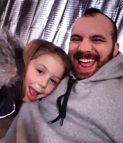 Adam Lind and daughter Aubree
