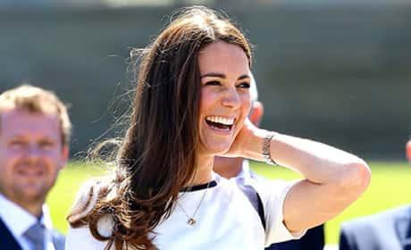 Kate Middleton in White and Black