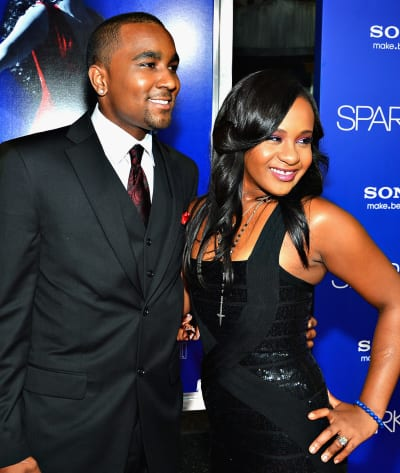 Nick Gordon with Bobbi Kristina