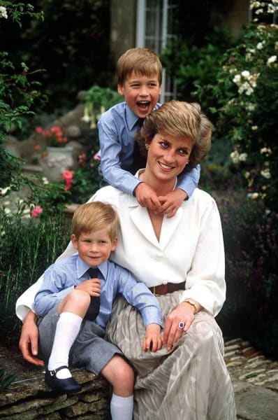 Harry, William, Diana