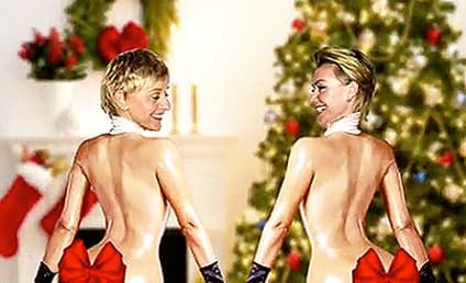 Ellen DeGeneres and Portia de Rossi Unveil Kim Kardashian-Inspired Christmas Card: See It Here!