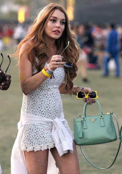 Lohan at Coachella