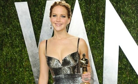 Jennifer Lawrence Oscars Party Dress