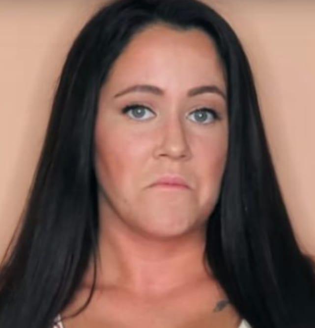 Jenelle evans frowns