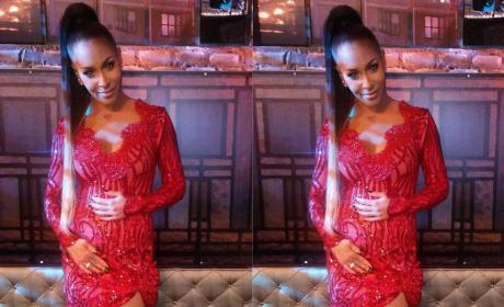 Amina Buddafly Shows off Her Bump