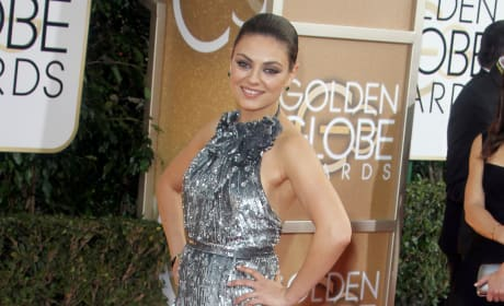 Mila Kunis at 2104 Golden Globes