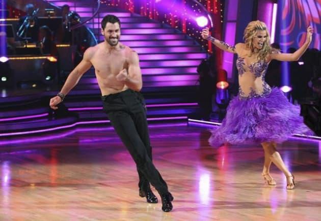 Maksim Shirtless on Swing Dance Shoes