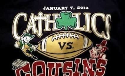 "Jimmy Clausen T-Shirt Hypes National Championship Game as ""Catholics vs. Cousins"""