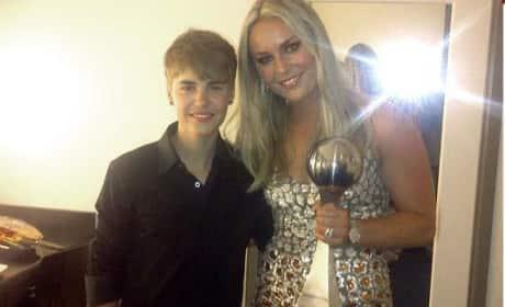 Lindsey Vonn and Justin Bieber