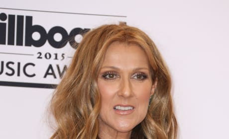 Celine Dion in Green Dress