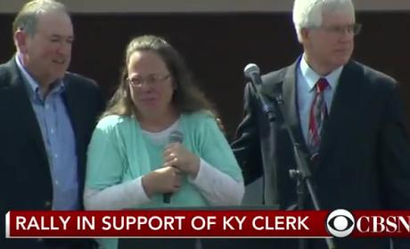 "Kim Davis Leaves Jail, Ruins ""Eye of the Tiger"" Forever"
