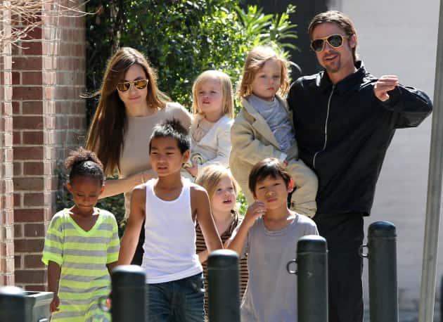 Brad, Angelina and Six Kids!