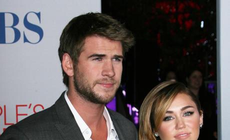 Liam Hemsworth with Miley Cyrus