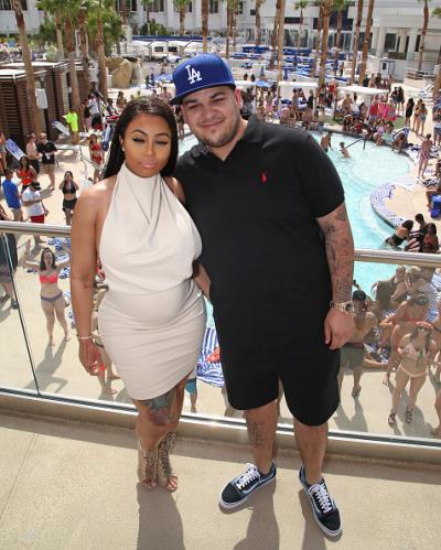 Rob Kardashian, Blac Chyna At Sky Beach Club