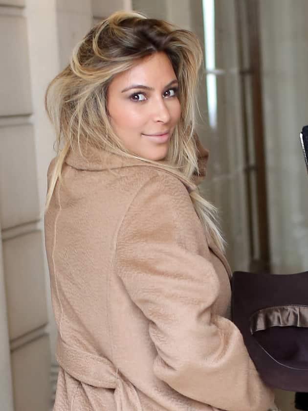 Kim Kardashian as a Blonde