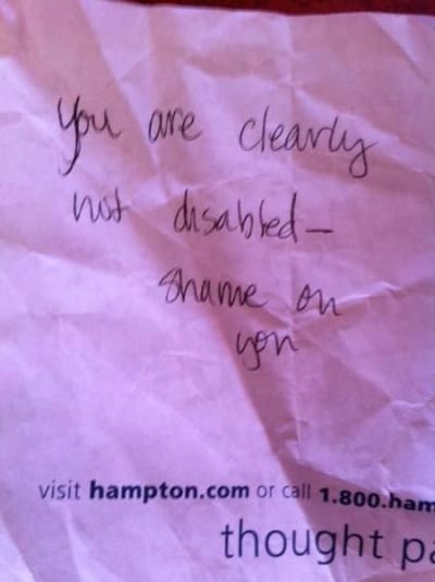 Anonymous Note on Car Window