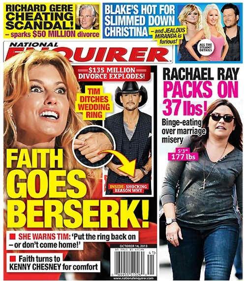 Faith Hill Tabloid Cover