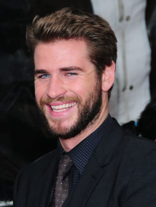 Happy Liam Hemsworth