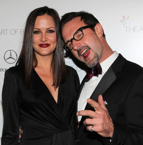 David Arquette with Christina McLarty