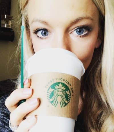 Mackenzie McKee Drinks Starbucks