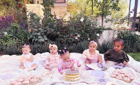 Stormi Webster, True Thompson, Chicago West, Dream Kardashian, and Saint West