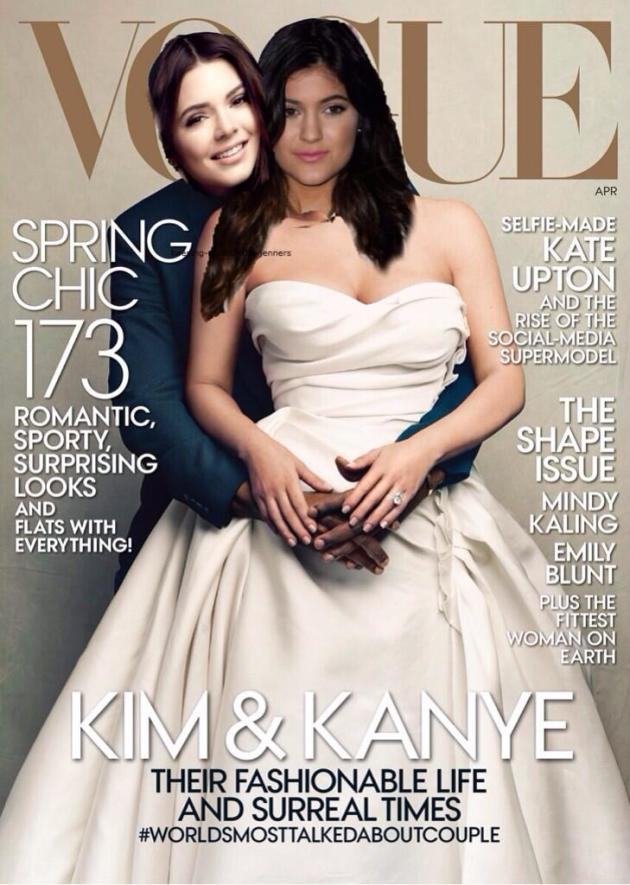 Kylie and Kendall Pretend to Cover Vogue
