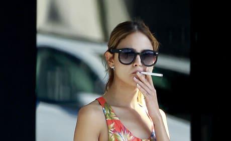Eiza Gonzalez Smoking