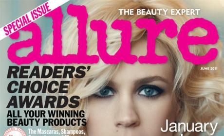 January Jones Allure Cover