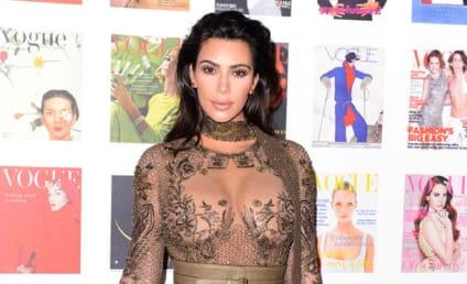 Kim Kardashian, Giant Boobs Attend Vogue 100 Gala
